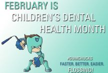 Children's Dental Health Month / February is Children's Dental Health Month! According to the American Academy of Pediatric Dentistry, tooth decay is the single most common chronic childhood disease—5 times more common than asthma, 4 times more common than early childhood obesity, and 20 times more common than diabetes.  Let's get Flossing!