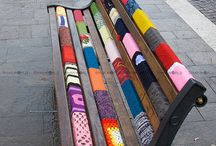 Yarn bombing  / by Freubelweb