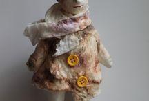 Dolls. Etsy / Hand made wadding dolls.