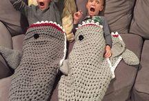 Mermaid / shark blanket