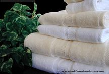 Luxury Cotton Towels / Blending the best American and Egyptian cotton, we achieve an unrivalled combination of absorption and softness producing luxury cotton towels for our clients.