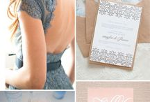 Powder blue and dusty pink