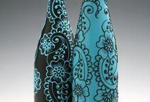 Borosüveg váza