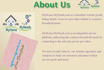 MyHome-MyNeeds.com - Free CLassifieds / MyHome-MyNeeds.com is a classified website portal listing details of service providers related to common household needs.