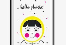 Nursery Ideas / Nursery ideas and personalised baby prints