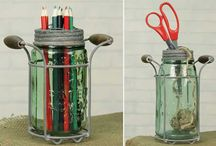 Mason Jars / Are there ever too many uses for Mason Jars? A collection of genius ideas to repurpose this versatile item.