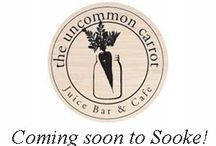 The Uncommon Carrot / The Uncommmon Carrot is Sooke, BC's hub for conversation, laughter, learning and eating well on the go. Looking to eat clean? We'll support you. Need a meet up spot? Come on in for a smoothie. Want gluten-free, dairy-free, vegan foods fast? We got you!