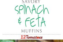 Spinach and muffins