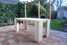 Steigerhouten meubelen / Alle meubels kan je zelf eenvoudig maken met onze bouwtekeningen. Kijk voor alle bouwtekeningen op www.bouwtekening-steigerhout.com