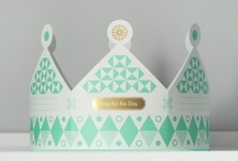 Hen Party Products / 2015 Hen product for Talking Tables. Print to be much cleaner.  White base, with less / no flower details, and  artdeco / geometric prints, with sorbet colour palette, with neon highlight and very important gold.