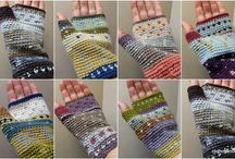 mittens, gloves, fingerless mittens / for the hands / by Merav Manor