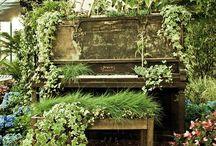 Recycled turned Garden Art