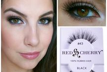 Red Cherry Lashes / Absolutely love these lashes! They look so beautiful and make your eyes look pop!    Find your favorite Red Cherry lashes at   http://www.madamemadeline.com/online_shoppe/categories.asp?cat=Red+Cherry+Lashes