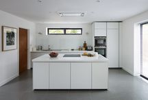 Case Study - bulthaup b1 kitchen by HobsonsChoice / The clients wanted the kitchen to have plenty of space for food preparation as baking was a particular passion of theirs. 'It should feel spacious whist offering good functionality and consideration to the adjacent utility room, dining and socialising spaces.'