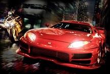 moto & voiture de sport / belle voiture et moto cross