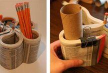 RICICLANDO LA CARTA / Con il riciclo creativo della carta si possono fare una marea di cose utili..... non buttiamo questi materiali preziosi nella spazzatura: ricicla e recupera!