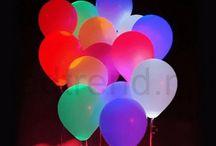 Ballonger med LED-lys