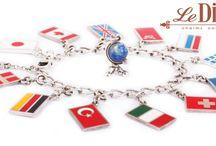 Флаги\ Flags charms / LeDiLe charms чармы шармы charm bracelets