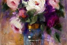 oil paintings- flowers