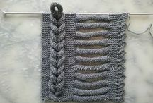 Muestrario tejido con agujas