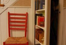Secret bookcase door / Clever storage for attic rooms