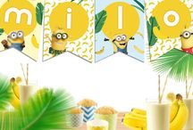 Cumpleaños de Minions tropical