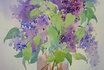 lilac watercolor