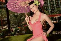Gals / Mid century, rockabilly, surf, tiki, groovy and just plain stylish women we love. Gals in bikinis, hats, jackets, skirts, dresses, pants and shirts of the era.