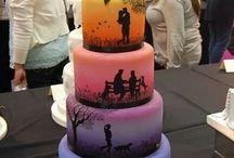 Bridal Cakes / Inspiratie voor bruiloften door Buro Alles! www.buroalles.nl