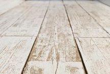 Whitewash floorboards