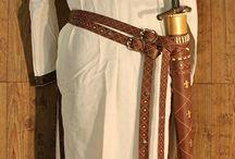 """Mittelalter Schwerthalter und Gürtel / Ausstattung für einen LARP Prinzen (für """"Broken Crown"""") - 3 Gürtel, Schwertscheide und Tasche"""