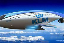 KLM futuristic Airplane