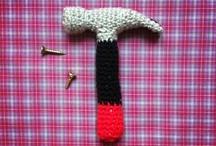 hæklet værktøj og våben