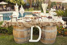 Barrels / Using our barrels as wedding decor.
