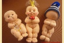 šité hračky, panenky
