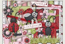 Digital Scrapbooking kits in Etsy
