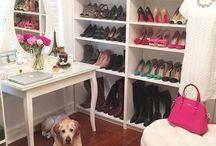 Closets, armários e organização