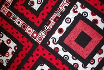 Quilt black and red