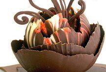 Criações de chocolate