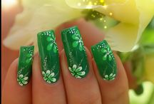 St. Patrick's Day Nails / by Angela Rose