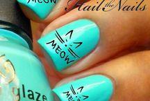 Animals nail art!