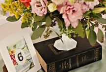 centerpieces with books / by Karen Foulkes-Bagley