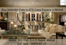 Splendid Flats in ATS Casa Espana in Mohali / #Comfortable, #sophisticated and elegant take on interior design and decor in Flats in ATS #CasaEspana buy Flats in #Mohali. Call Now : 9888449029
