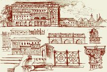 Classic in sketches / My sketches for feature projects