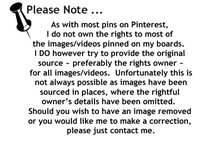 Pinterest Disclaimer / Disclaimer for repinning on Pinterest