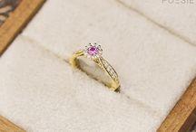 Anéis de noivado de Safira rosa