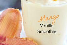 Vanilla mango smoothie