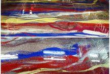 Glitter Floor Epoxy / Epoxy concrete floors with glitter to make them sparkle.