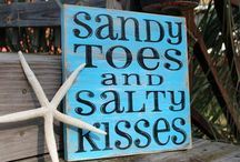sandy toes and salty kisses / by rachel f