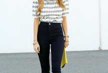 Outfit Ideas with dark/black jeans.